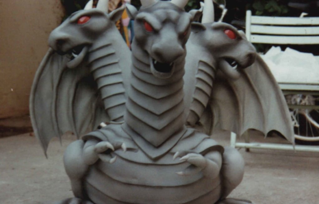 Dragon from the Nintendo NES Dragon Spirit commercial by puppeteer Lynette Eklund.
